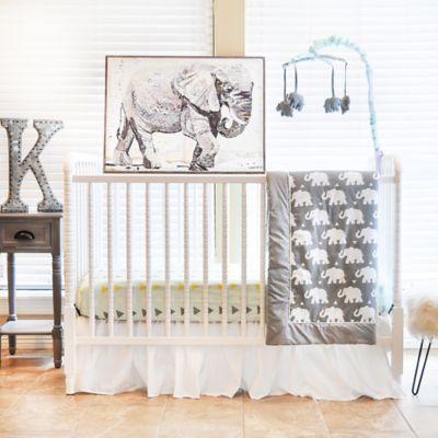 Pam Grace Creations In Elephant 6 Piece Crib Bedding Set Mint