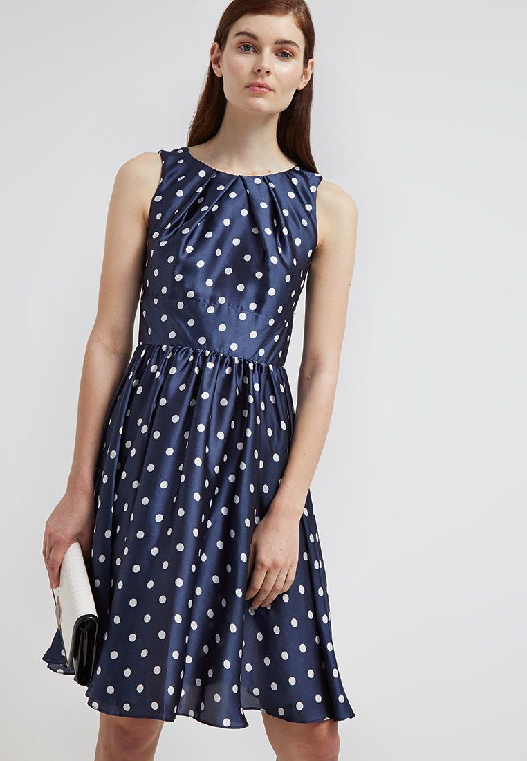 Swing Cocktailkleid / festliches Kleid - schwarzblau/ weiß ...