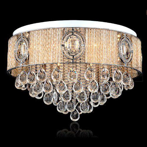 European Luxury 26 Egg Crystal Glass Sticks Hanging Living Room