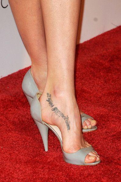 Lily Cole Lettering Tattoo - Body Art Lookbook - StyleBistro