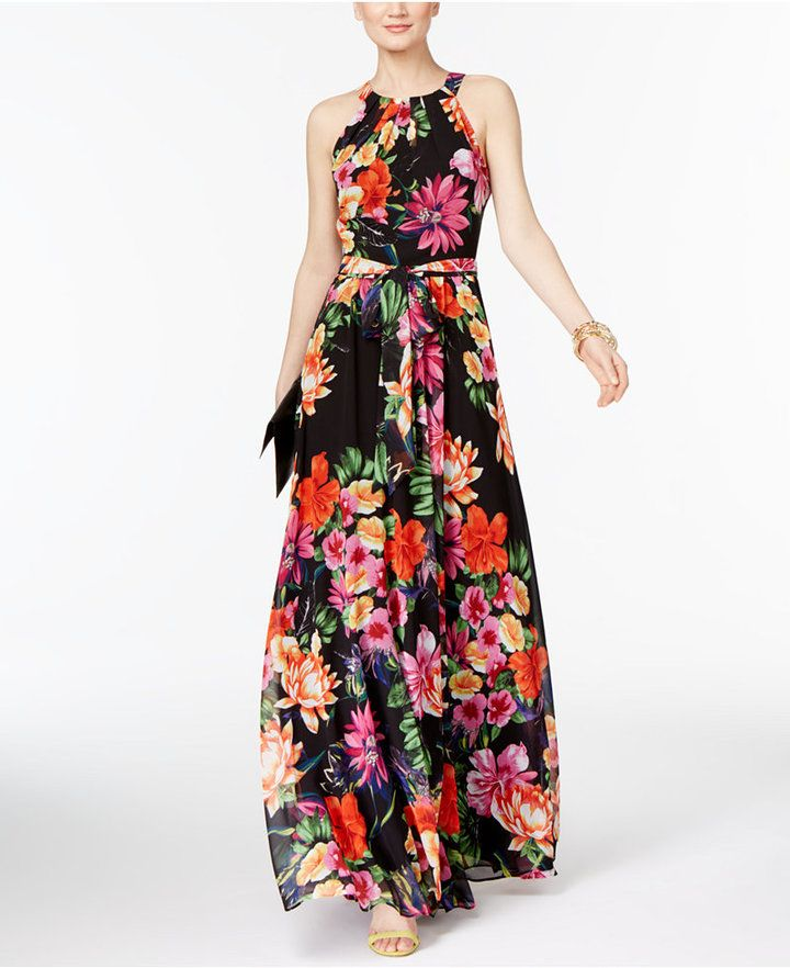1d058c5321d4 INC International Concepts Floral-Print Maxi Dress, Only at Macy's ...