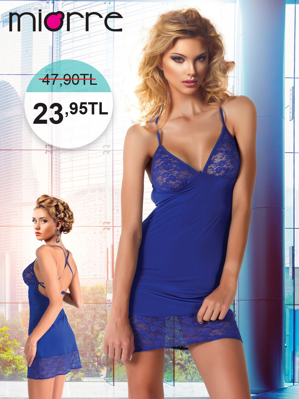 27622b110a7c5 Miorre Gecelik String Takım - Avrupa Networking Night Gown, Nightwear,  Bodycon Dress, Dresses