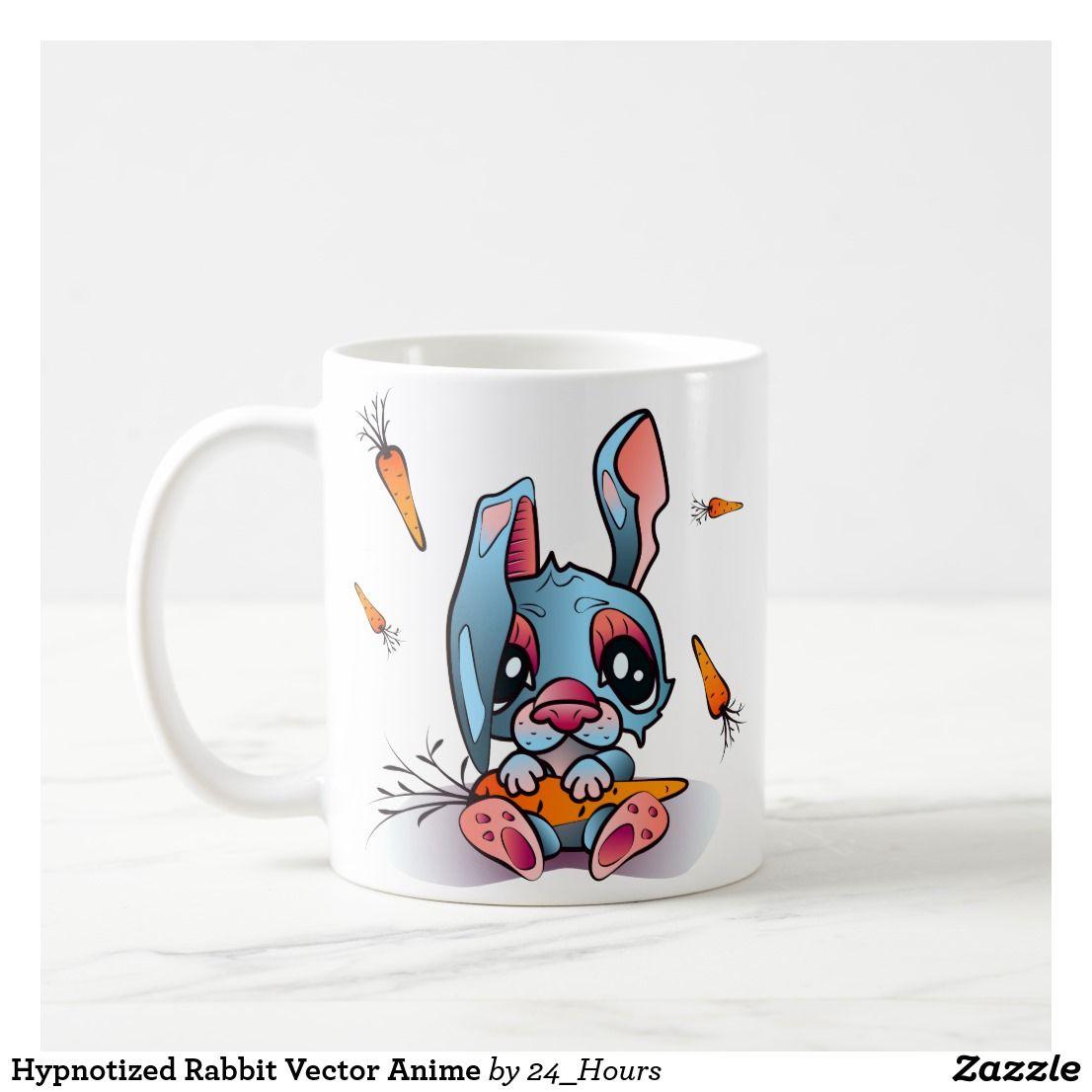 Hypnotized rabbit vector anime coffee mug mugs anime