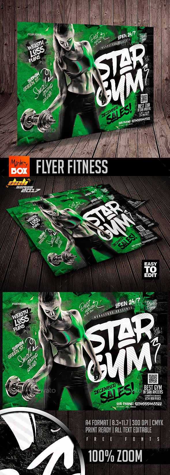 Flyer Fitness  Flyer Printing Flyer Template And Print Templates