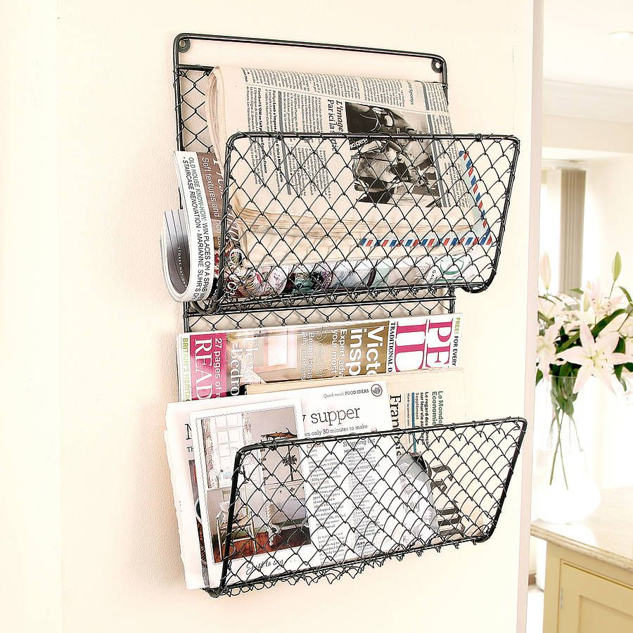 Farmhouse Mail And Magazine Store | Wall finishes, Wall storage and ...