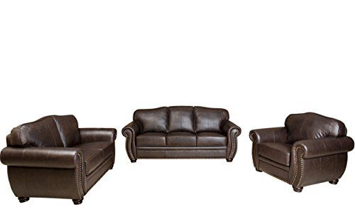 Charmant Abbyson Living Palaza Premium Italian Leather Sofa/Loveseat/Armchair Review  ...