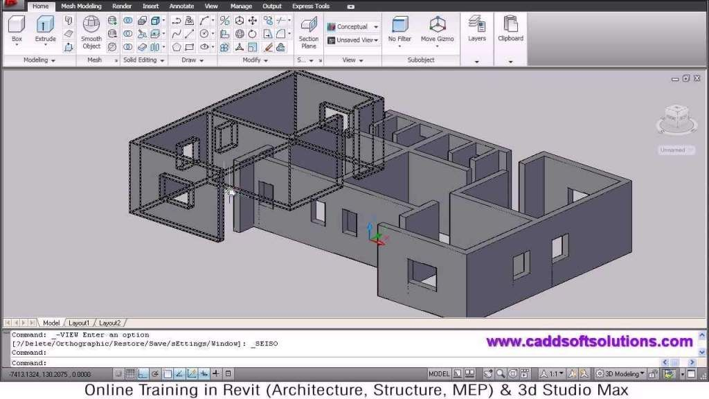 Autocad 3d House Modeling Tutorial 1 With Images 3d Home