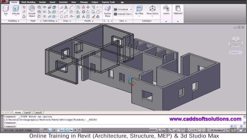 AutoCAD 3D House Modeling Tutorial 1 3d home design