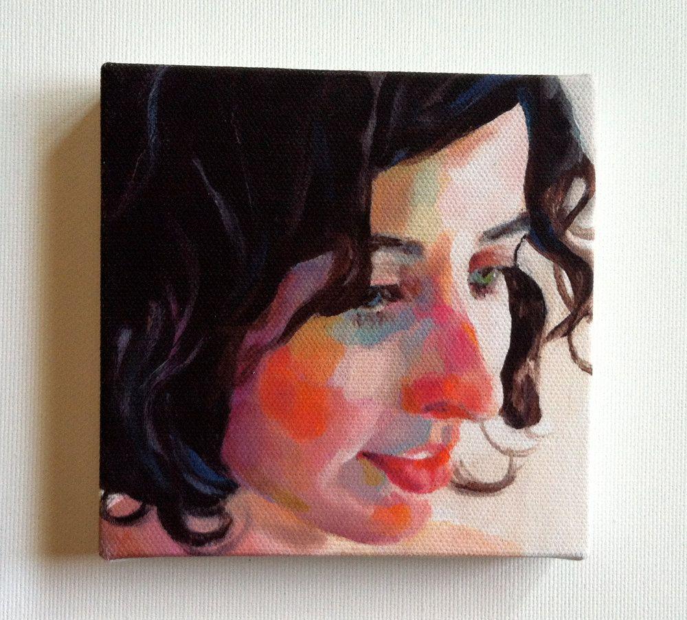 Rimma / Tiny canvas print. $20.00, via Etsy.