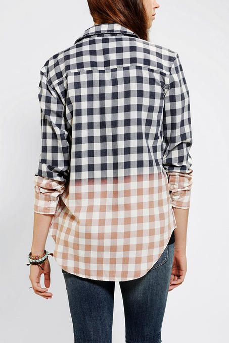 Bleach-Dye Button-Down Shirt
