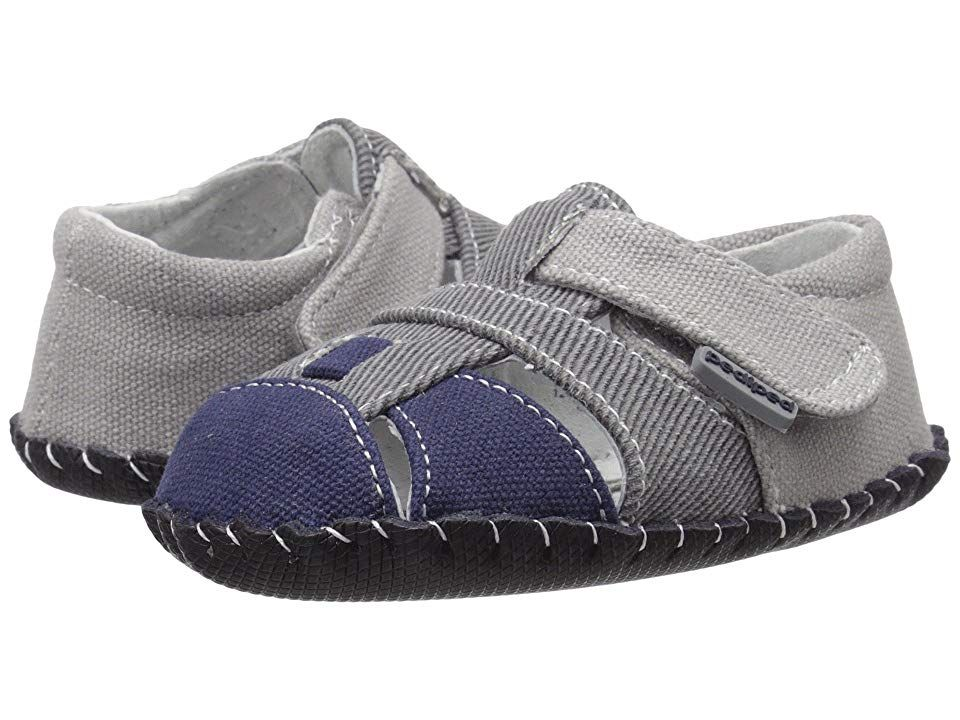 pediped Harvey Originals (Infant) Boy's Shoes Grey/Navy ...