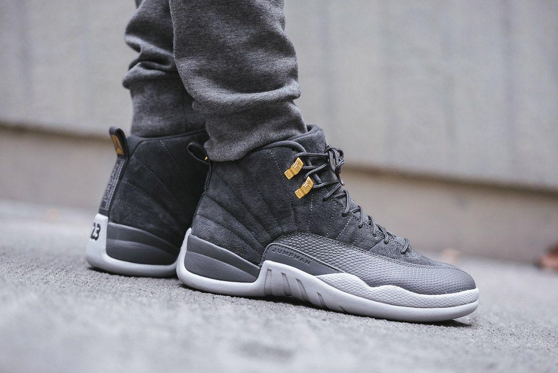 official photos 7b322 d8aa4 Air Jordan 12  Dark Grey  Up Close and On-Foot - Sneaker Freaker