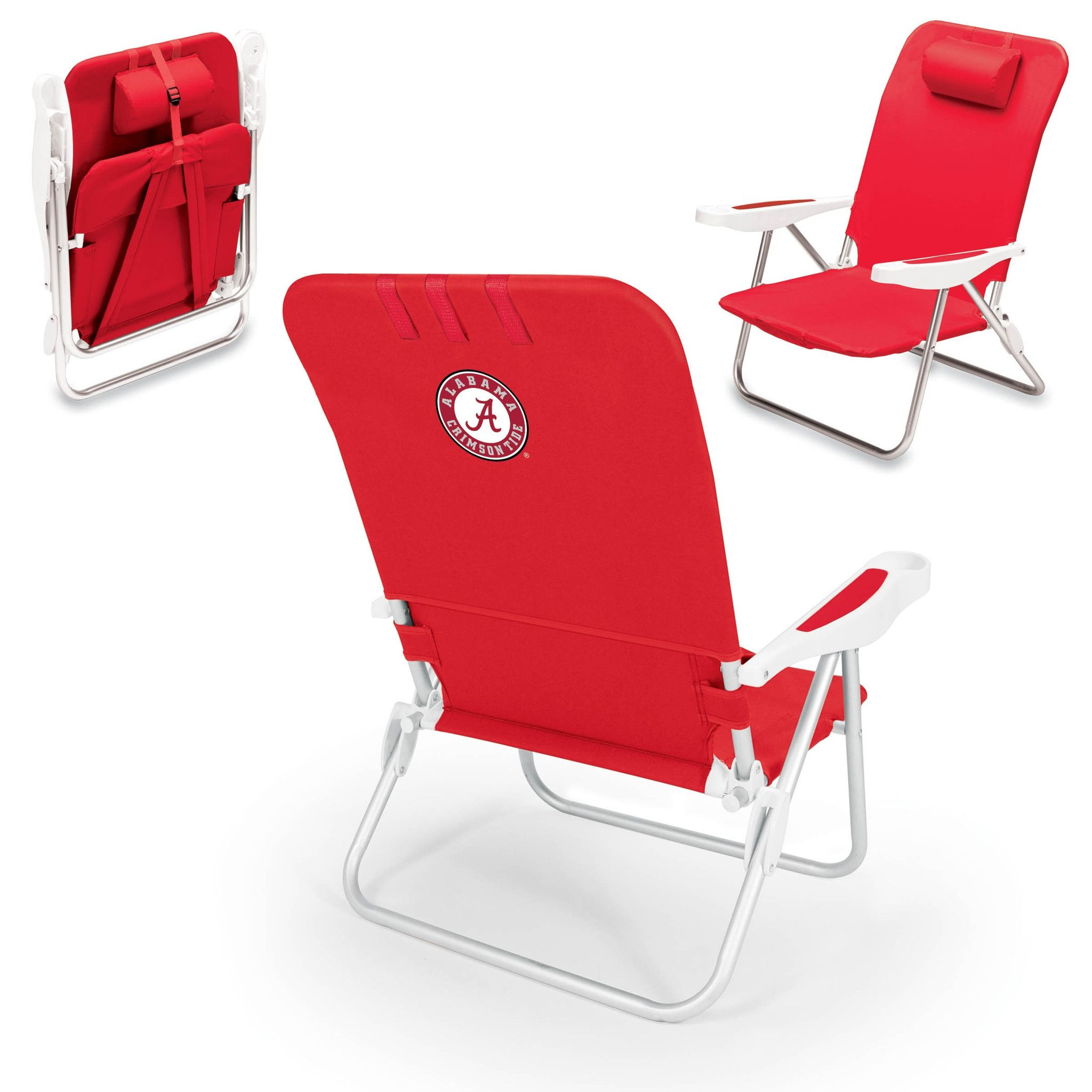 Beautiful Alabama Crimson Tide Beach Chair   Monaco By Picnic Time