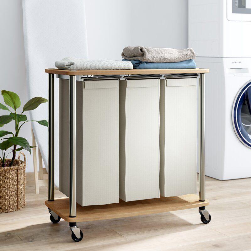 Elena 3 Bag Laundry Sorter Laundry Hamper Laundry Room Folding Table Laundry Room Tables