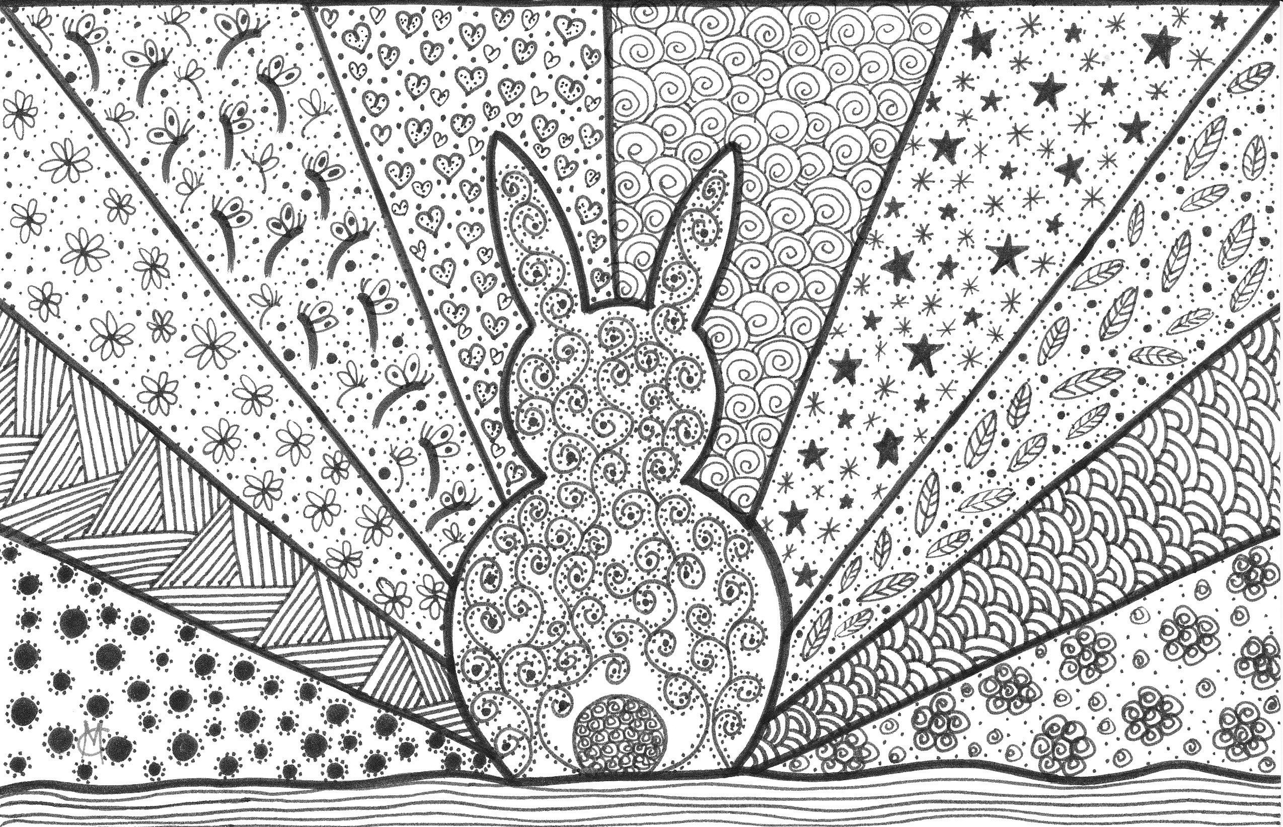 Geometric Easter Egg Coloring Pages Pics