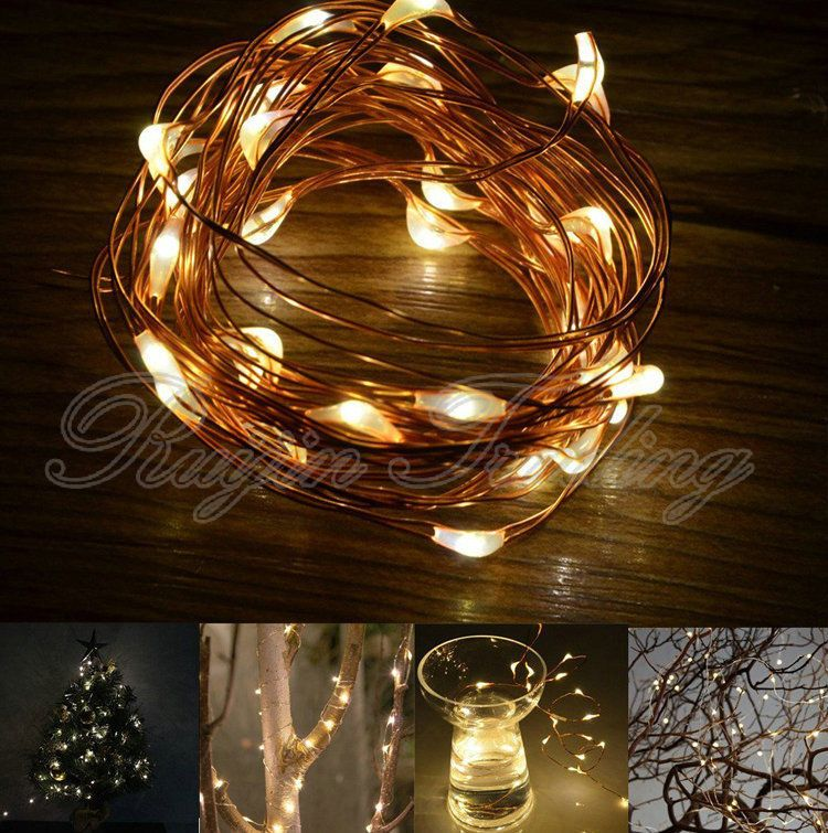 10//20//30//40//80LED MICRO WIRE STRING FAIRY PARTY XMAS WEDDING CHRISTMAS LIGHT