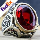 Photo of 925 Sterling Silver Faceted Ruby Turkish Handmade Jewelry Men's Ring All Sizes | Ebay