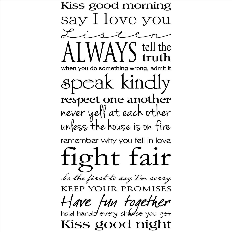 Kiss Good Morning Say I Love You Kiss Goodnight Vinyl Lettering
