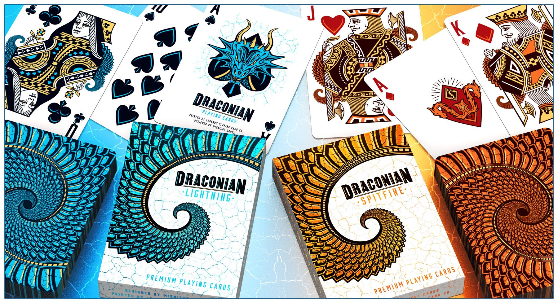 DRACONIAN Playing Cards by Randy Butterfield (Midnight