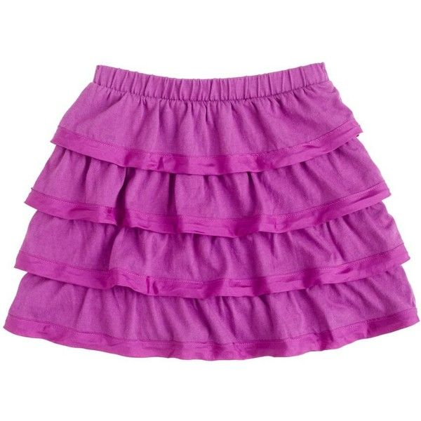 Girls' Sateen-Trimmed Cupcake Skirt ($38) ❤ liked on Polyvore