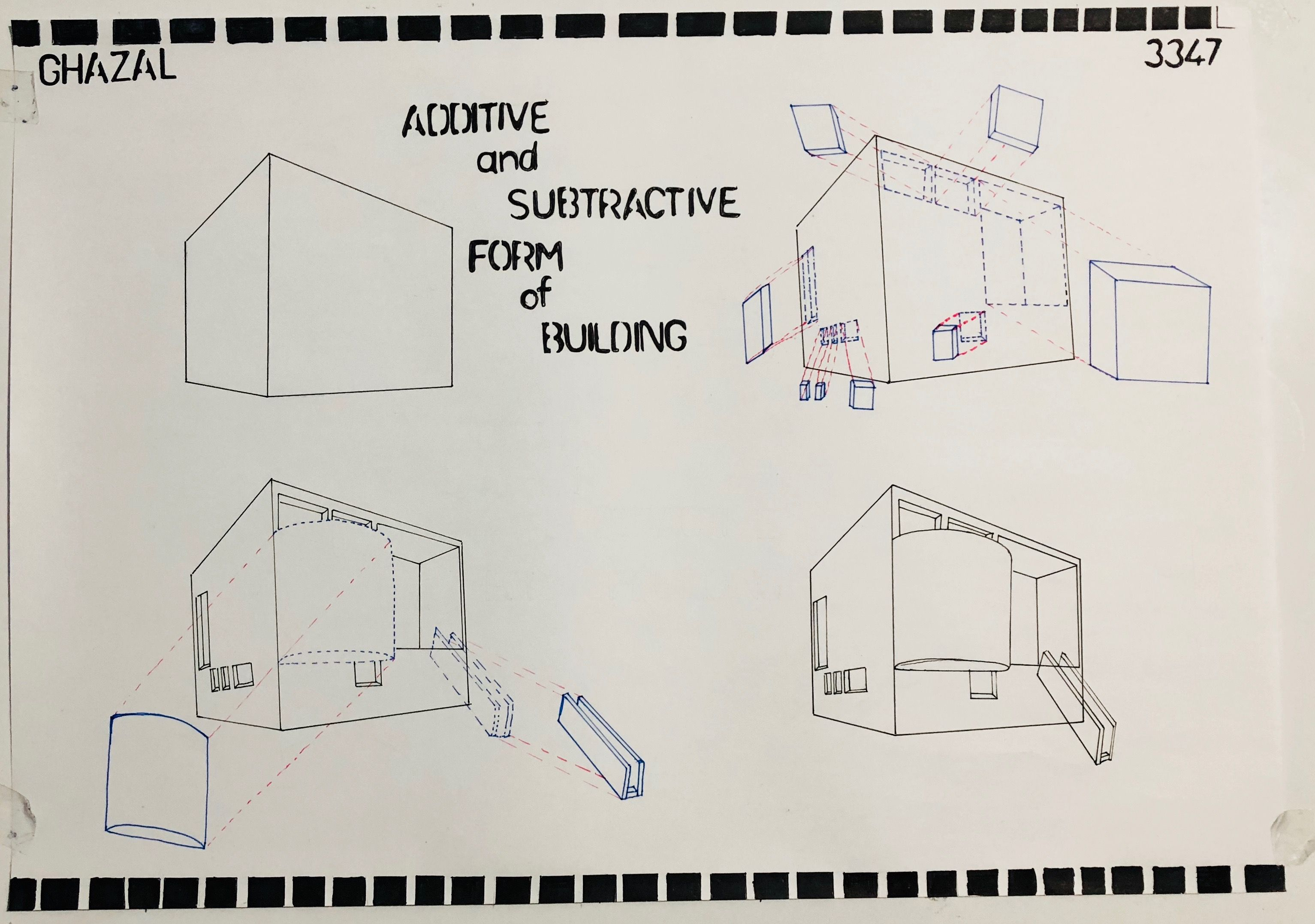 Additive And Subtractive Form Of Building Form Architecture