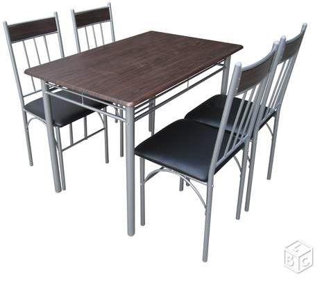 Ensemble Table 4 Chaises Ameublement Val Doise
