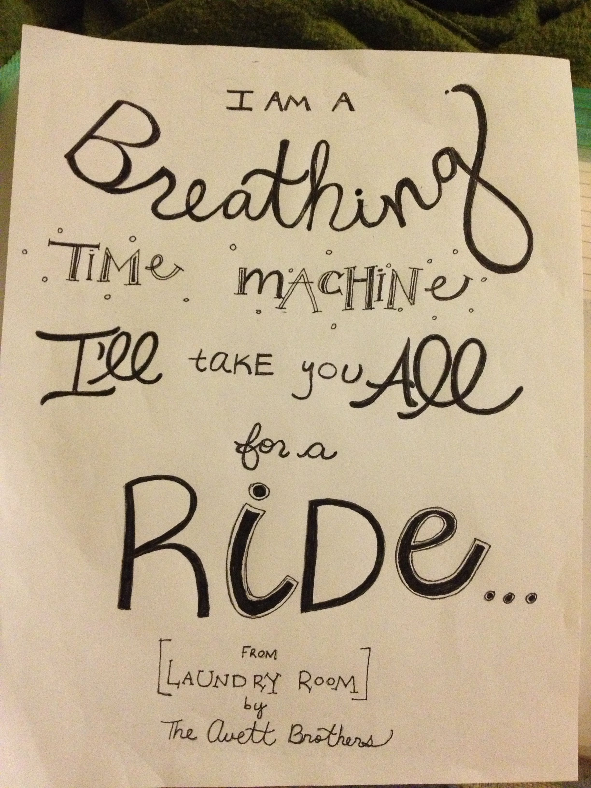 Hand Lettered Quot Laundry Room Quot By The Avett Brothers Avett