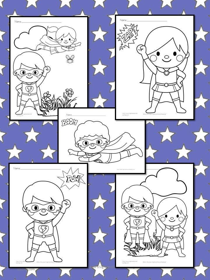 Free Superheroes Coloring Pages For Preschool Or Kindergarten