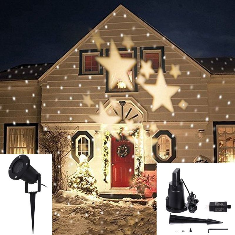 4w led waterproof star light landscape projector lamp for home christmas decoration 110 240v