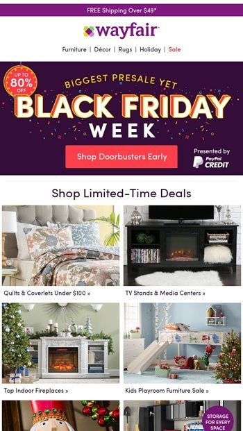 finest selection 92d2e 0f9f0 For you: BLACK FRIDAY EARLY ACCESS - Wayfair Email Archive ...