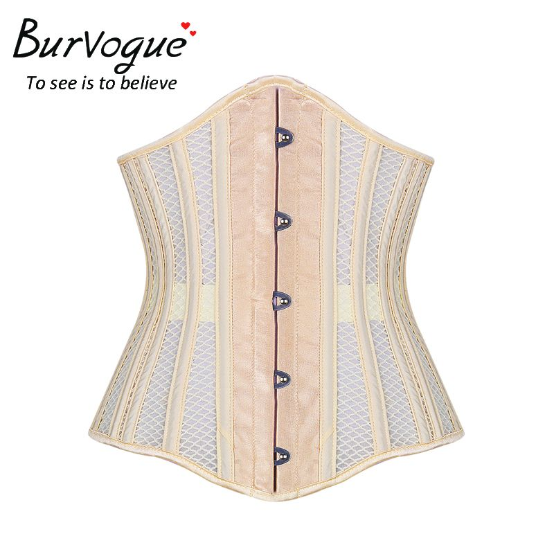 d6c2cf8dbbd Double Steel Boned Underbust Corset Breathable Waist Control Sexy Lace Up  Corset   Bustiers for Women