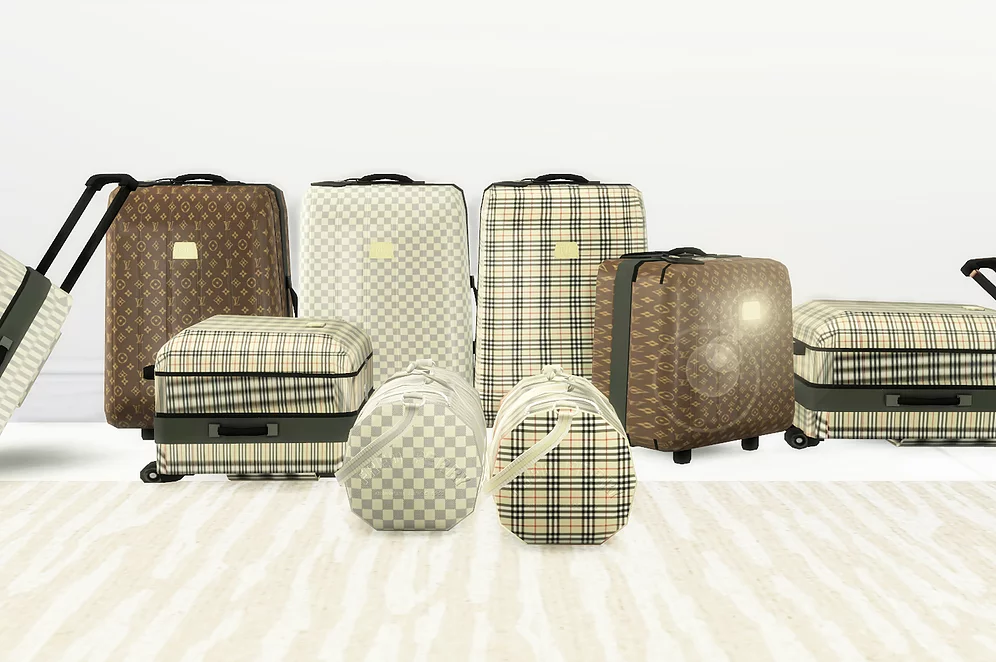 Photo of LV/ Burberry SuitcaseCollection | royalsims