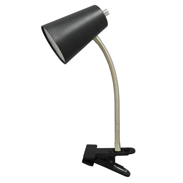 Led Clip Table Lamp Black Includes Energy Efficient Light Bulb