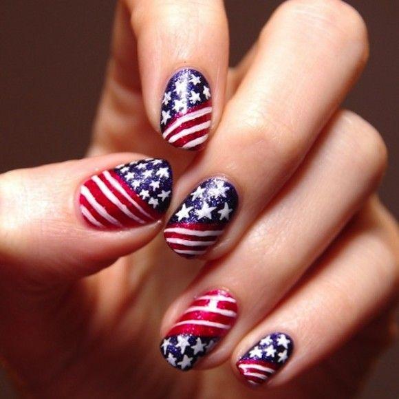Usa Nail Love Nails Flag Nails Usa Nails American