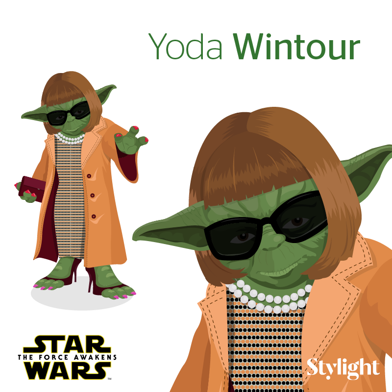 Fashion Icons Get A Star Wars Makeover #infographic