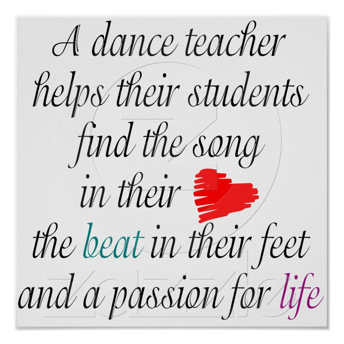 Love to Teach Dance Poster | Zazzle.com | Teach dance, Dance ...