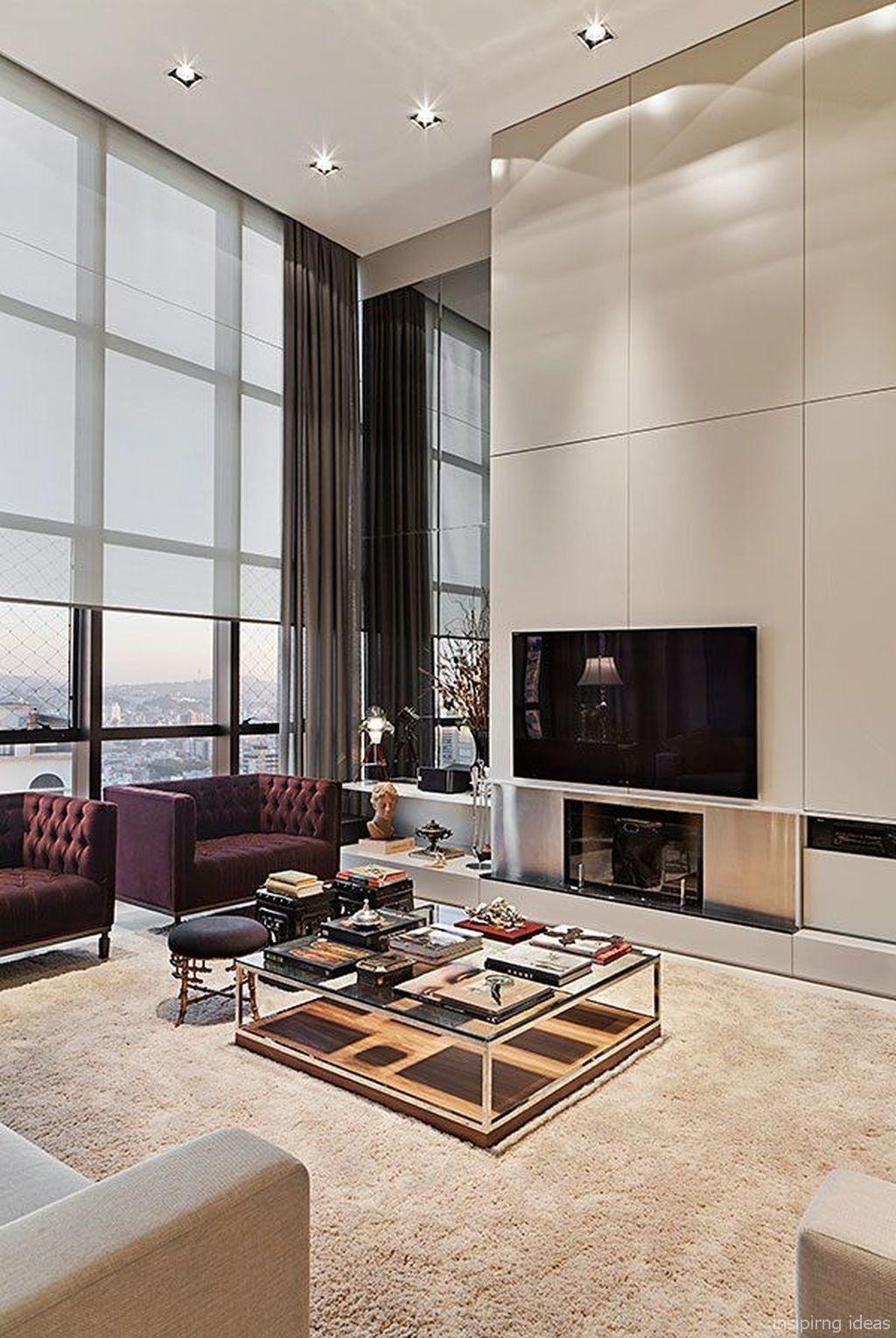 Small Modern Apartment Living Room Ideas: Luxury Modern Apartment Living Room Decorating Ideas On A