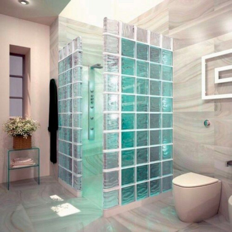 41 Amazing Glass Brick Shower Division Design Ideas With Images