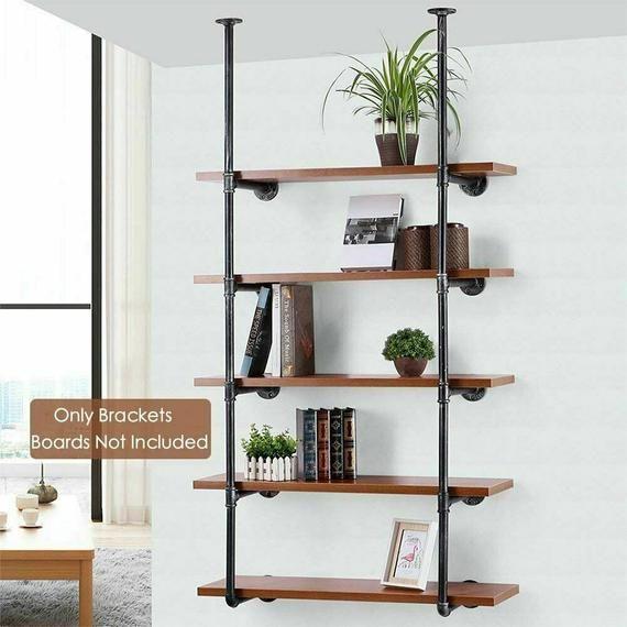 Industrial Floating shelves, Pipe Shelf, DIY Rusti