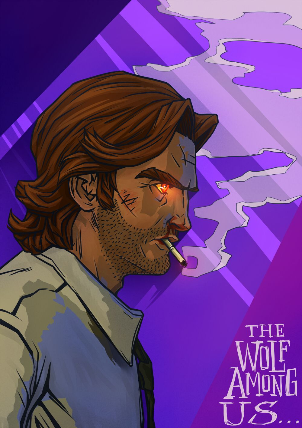 The Wolf Among Us Bigby Wolf By Kumagorochan On Deviantart The Wolf Among Us Wolf Werewolf Art