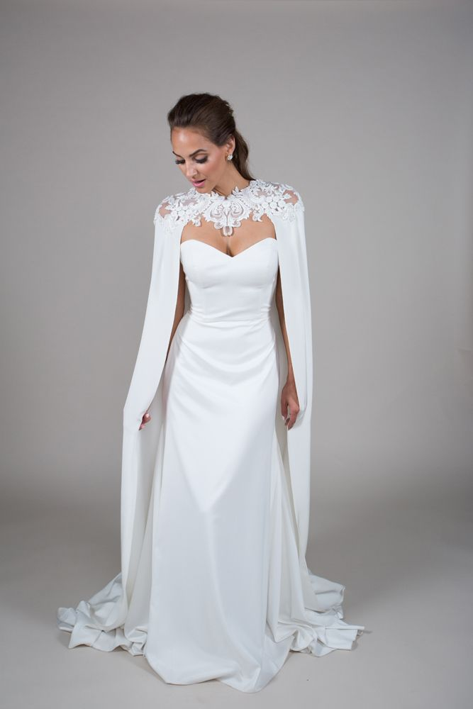 Pin By Florencia On Sketches In 2021 Cape Wedding Dress Winter Wedding Dress Wedding Dresses