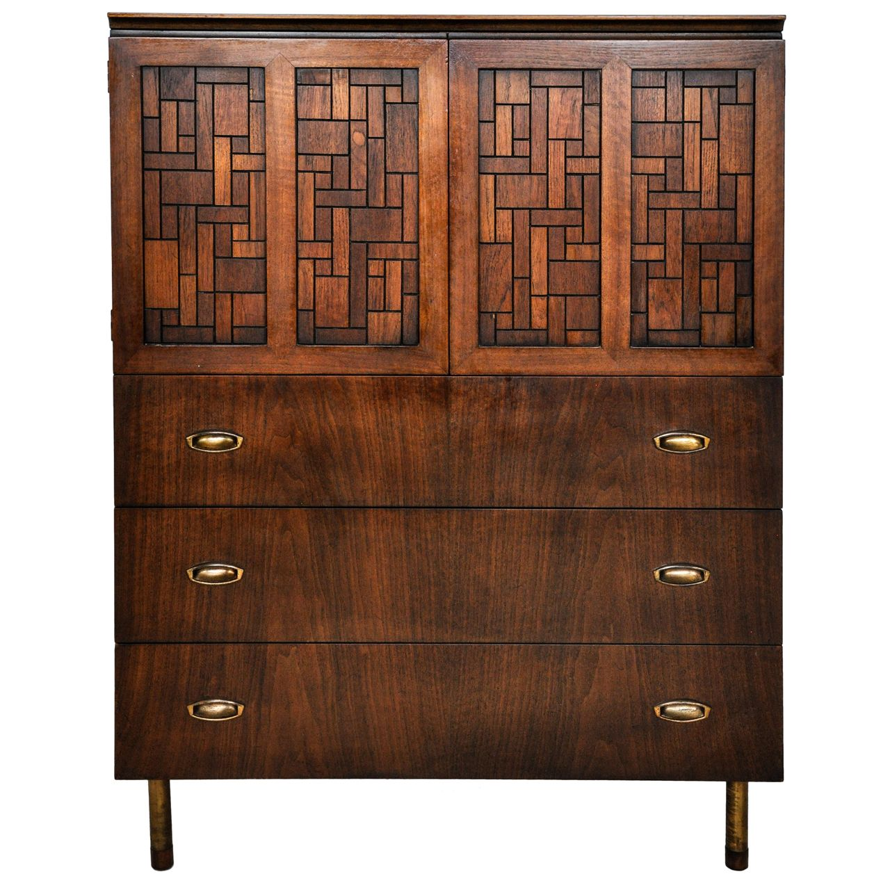 View This Item And Discover Similar Dressers For Sale At   Gentlemanu0027s  Chest By Bert England. Matching Low Dresser Also Available.