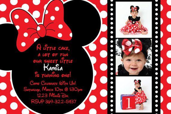 Tarjetas De Minnie Mouse Roja Imagui Tarjetas Minnie