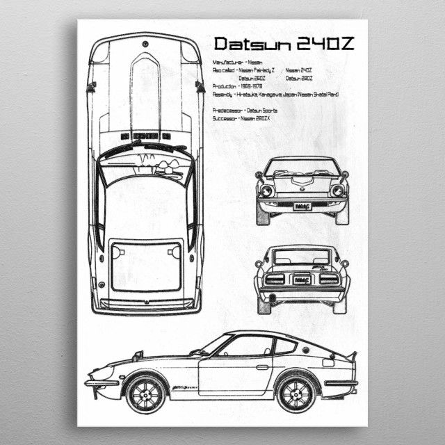 Datsun 240Z by FARKI15 DESIGN | metal posters - Displate | Displate thumbnail