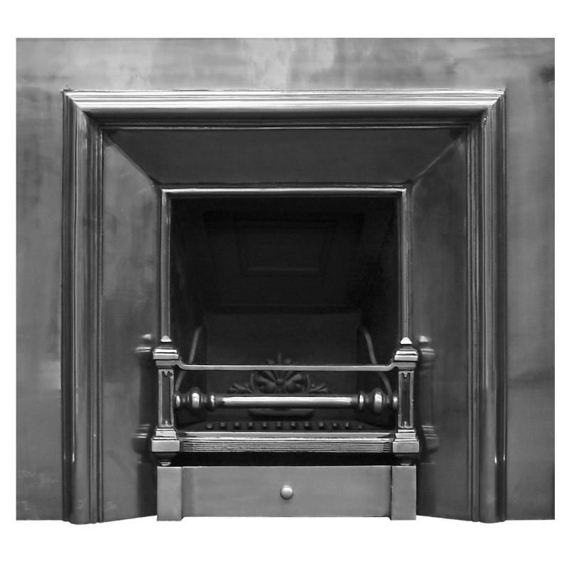 Large Royal Full Polish Cast Iron Fireplace Insert,RX129a,full ...