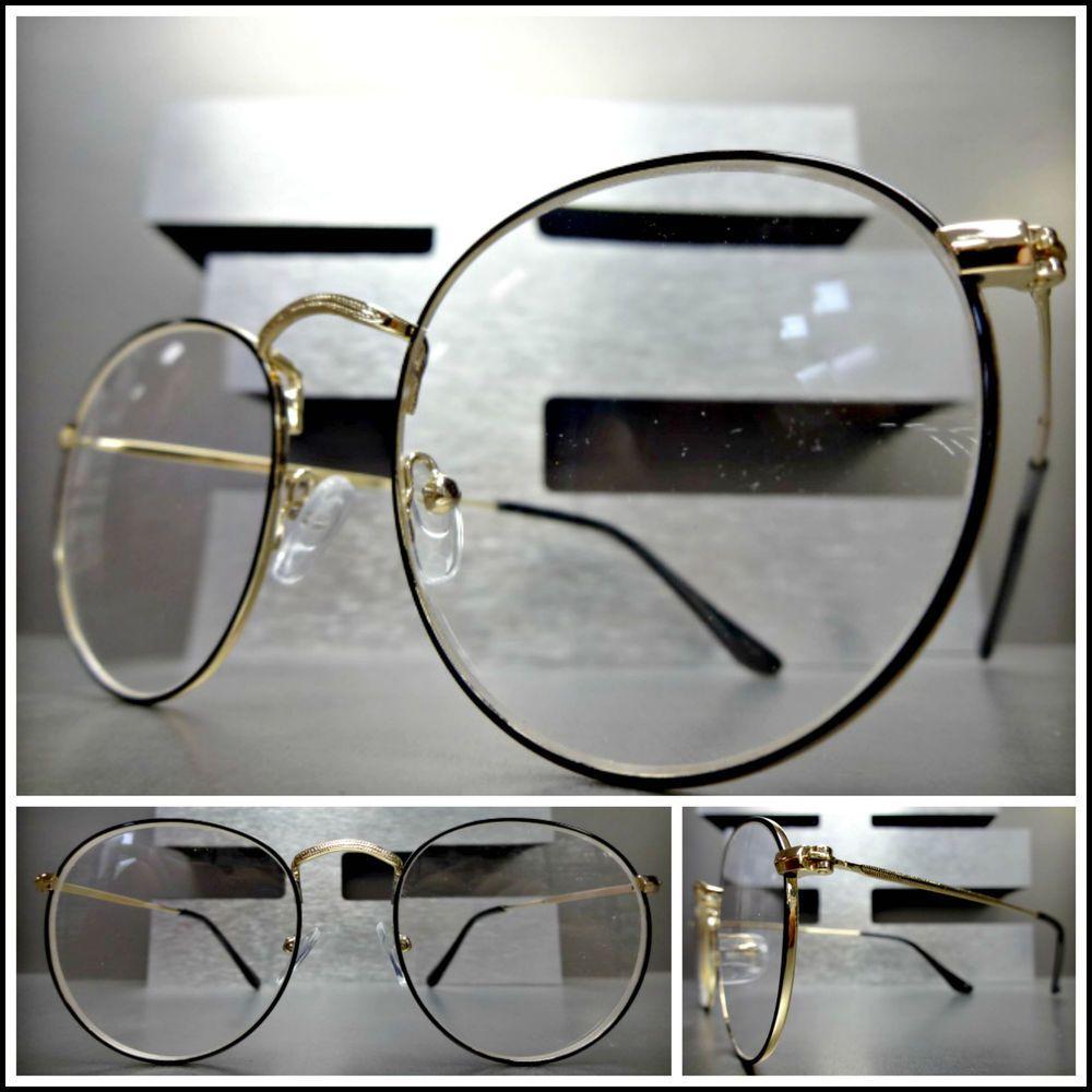 Men Vintage Retro Style READING EYE GLASSES READERS Gold & Black ...