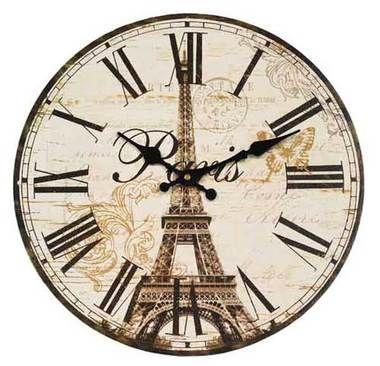Eifel Tower Wall Clock 34cm Diameter Cool Clocks Australia Clock Wall Clock Cool Clocks