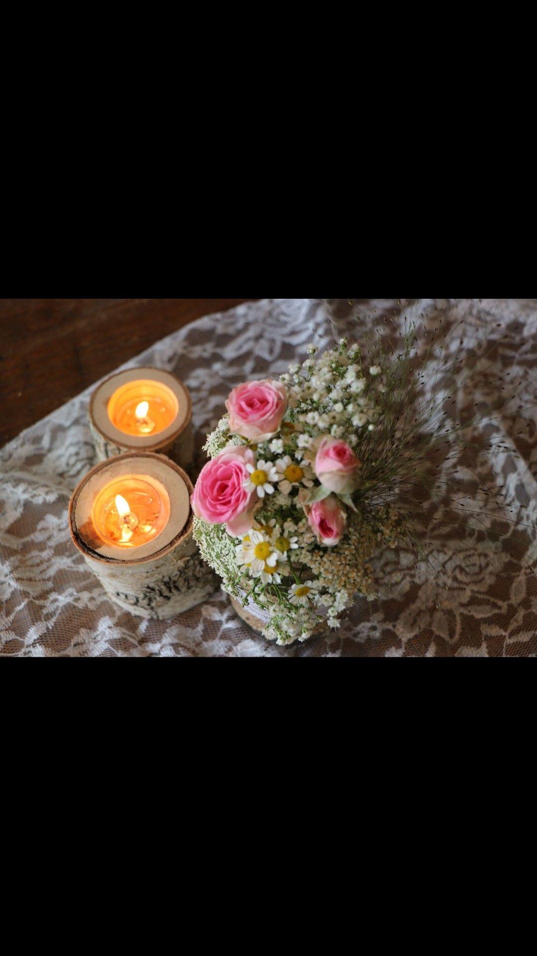 Blumen Tischdeko Taufe Madchen Hochzeit Kerzen Taufe Pinterest