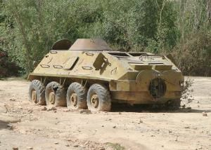 Aging vehicles, like this old Russian BTR-60, are still in use by the Kenyan defense forces (wikimedia commons)