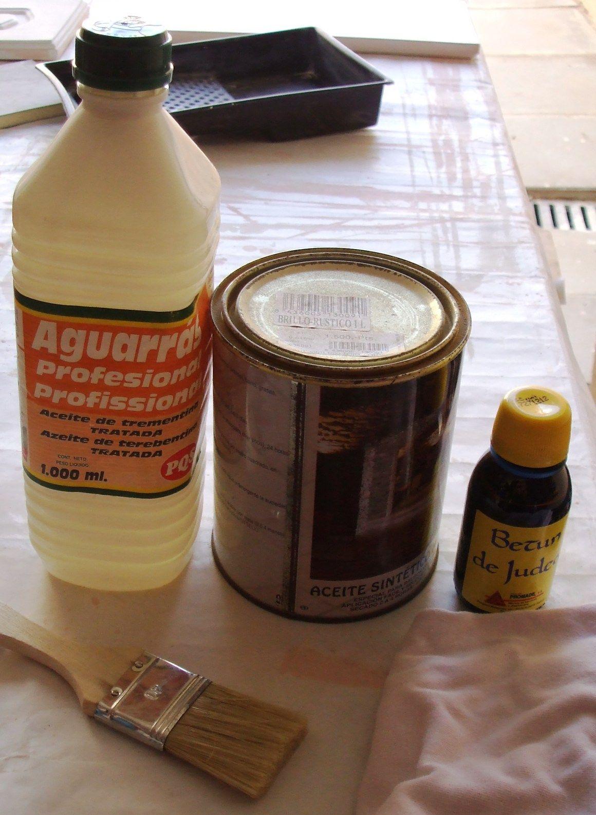 Pintar madera con aceite